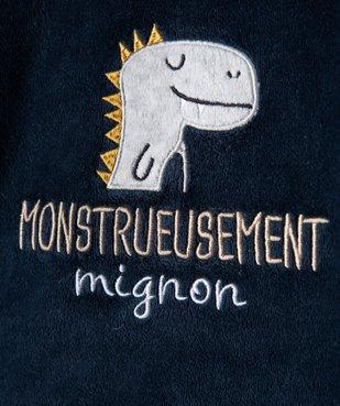 Pyjama bébé garçon 2 pièces avec motif dinosaure vue2 - GEMO(BB COUCHE) - GEMO