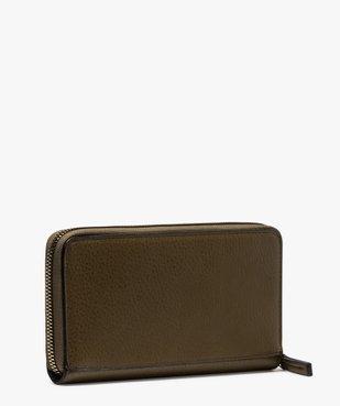 Portefeuille femme bi-matières avec clous métalliques vue2 - GEMO (ACCESS) - GEMO