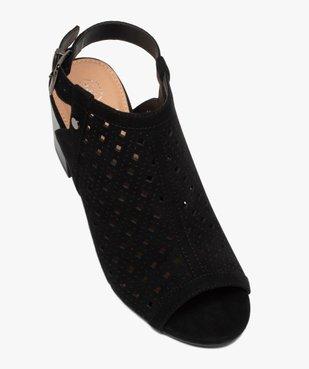 Sandales femme à talon carré dessus couvrant et ajouré vue5 - GEMO(URBAIN) - GEMO