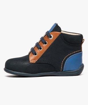 Chaussures bébé garçon semi-montantes dessus cuir - Absorba vue3 - ABSORBA - GEMO