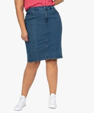 Jupe femme en jean fendue vue1 - GEMO (G TAILLE) - GEMO