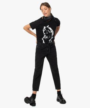 Tee-shirt femme avec motif Alice au pays des merveilles - Disney vue5 - GEMO(FEMME PAP) - GEMO