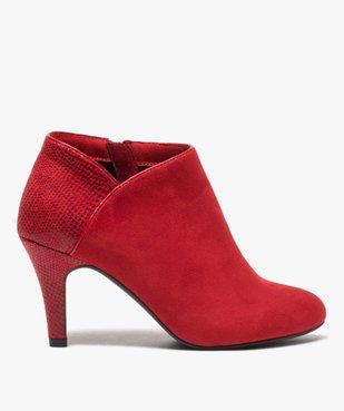 Low-boots femme dessus suédine et bordures passepoil vue1 - Nikesneakers(URBAIN) - Nikesneakers