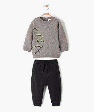 Ensemble bébé garçon 2 pièces : sweat + jogger - Lulu Castagnette vue1 - LULUCASTAGNETTE - GEMO