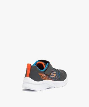 Baskets garçon à lacets et scratch – Skechers Microspec vue4 - SKECHERS - GEMO