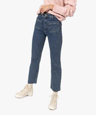 Jean femme coupe droite avec poches plaquées vue1 - GEMO(FEMME PAP) - GEMO