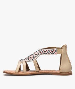 Sandales fille zippées ornées de perles et de strass vue3 - GEMO (ENFANT) - GEMO