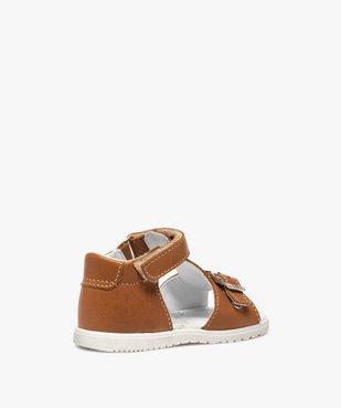 Sandales bébé en cuir uni ajustables - Bopy vue4 - BOPY - GEMO