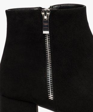 Boots femme à petit talon avec zip décoratif sur le côté vue6 - GEMO(URBAIN) - GEMO