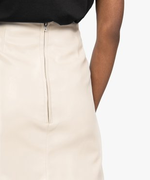 Jupe femme droite avec pinces à la taille vue3 - GEMO(FEMME PAP) - GEMO