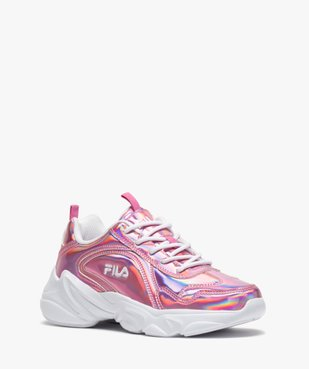 Baskets femme running irisées à lacets - Fila Alamo vue2 - FILA - GEMO