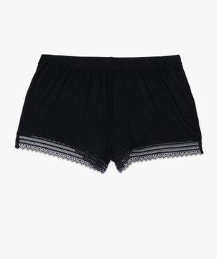 Short de pyjama femme en maille fluide avec bas en dentelle vue4 - Nikesneakers(HOMWR FEM) - Nikesneakers