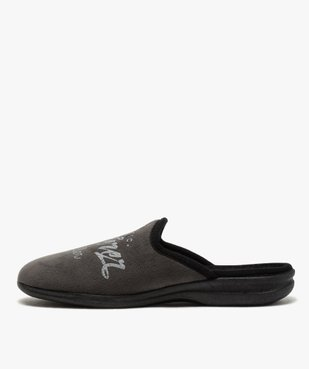 Chaussons homme mules confort en velours ras vue3 - Nikesneakers(HOMWR HOM) - Nikesneakers