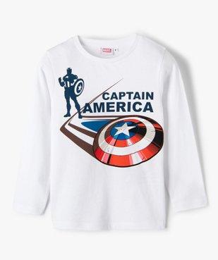 Tee-shirt garçon à manches longues imprimé Captain America - Marvel vue1 - MARVEL DTR - GEMO