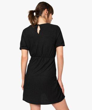 Robe femme à manches courtes avec bas façon portefeuille vue3 - GEMO(FEMME PAP) - GEMO