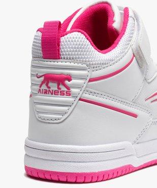 Baskets fille semi-montantes bicolores - Airness vue6 - AIRNESS - GEMO