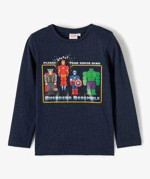 Tee-shirt garçon à manches longues imprimé Avengers - Marvel vue2 - MARVEL DTR - GEMO