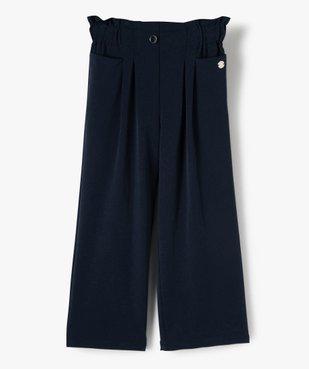 Pantalon fille large à taille haute élastiquée - Lulu Castagnette vue1 - LULUCASTAGNETTE - Nikesneakers