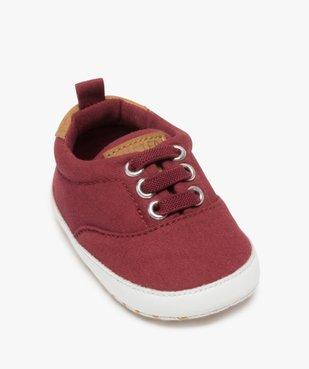 Chaussons de naissance bébé garçon style tennis de toile vue5 - Nikesneakers(BB COUCHE) - Nikesneakers