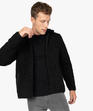 Blouson homme en polaire aspect laine de mouton vue1 - GEMO (HOMME) - GEMO