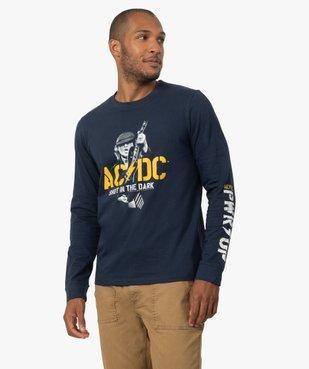 Tee-shirt homme avec motif ACDC à manches longues vue1 - ACDC - GEMO