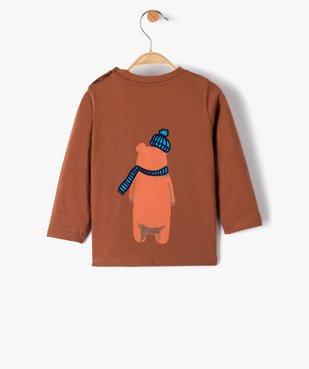 Tee-shirt bébé garçon à manches longues à motif recto-verso vue4 - GEMO(BEBE DEBT) - GEMO
