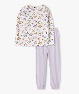 Pyjama fille en jersey imprimé fantaisie vue1 - GEMO (ENFANT) - GEMO