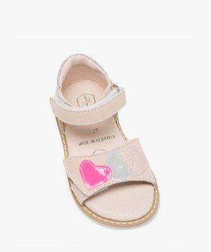 Sandales bébé fille avec motifs coeurs sur le dessus vue5 - GEMO(BEBE DEBT) - GEMO
