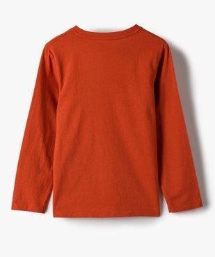 Tee-shirt garçon imprimé à manches longues vue3 - GEMO C4G GARCON - GEMO
