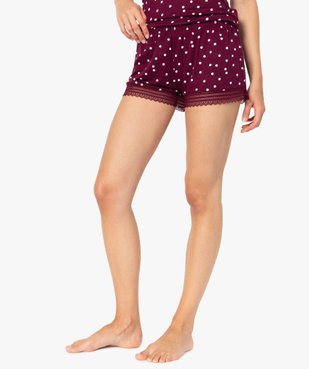 Short de pyjama femme en maille fluide avec bas en dentelle vue1 - Nikesneakers(HOMWR FEM) - Nikesneakers