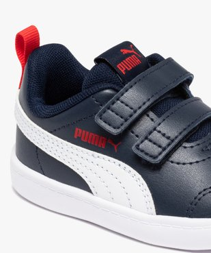 Baskets bébé bicolores à scratch – Puma Courtflex vue6 - PUMA - GEMO