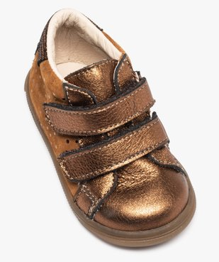 Chaussures de marche bébé dessus cuir brillant - Bopy vue5 - BOPY - Nikesneakers