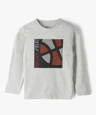 Tee-shirt garçon à manches longues avec motif basket vue1 - GEMO (ENFANT) - GEMO