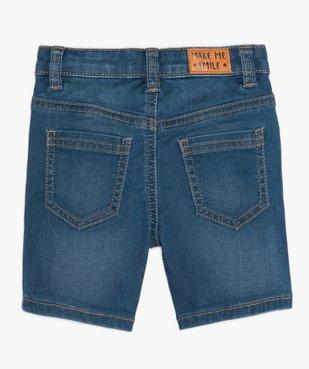 Short bébé garçon en jean extensible vue3 - GEMO(BEBE DEBT) - GEMO