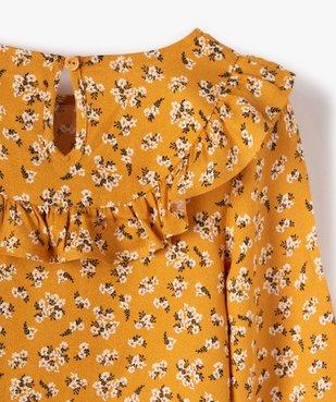 Chemise fille à motifs fleuris et volant sur le col vue2 - GEMO (ENFANT) - GEMO