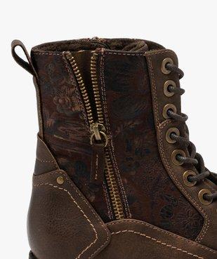 Boots femme à talon plat fermeture zippée dessus fantaisie vue6 - GEMO (CASUAL) - GEMO