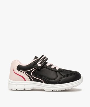 Baskets fille bicolores avec fermeture scratch vue1 - Nikesneakers (ENFANT) - Nikesneakers