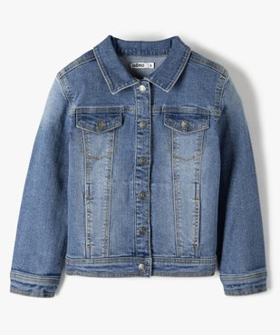 Veste fille en jean extensible vue1 - GEMO (ENFANT) - GEMO