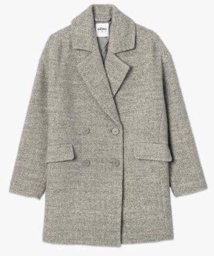Manteau femme mi-long à double boutonnage vue4 - Nikesneakers(FEMME PAP) - Nikesneakers