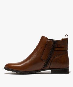 Boots femme unis à talon plat dessus cuir – Pierre Cardin vue3 - PIERRE CARDIN D - GEMO