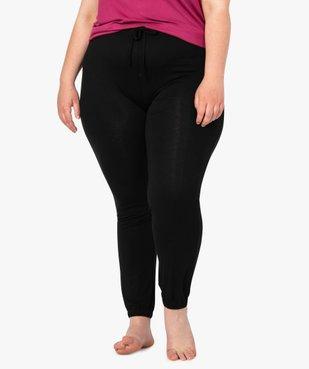 Bas de pyjama femme fluide avec chevilles élastiquées vue1 - GEMO(HOMWR FEM) - GEMO