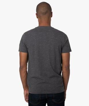 Tee-shirt homme col tunisien 100% coton biologique vue3 - GEMO C4G HOMME - GEMO