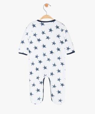 Pyjama bébé garçon en velours motif étoiles vue2 - GEMO(BB COUCHE) - GEMO