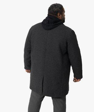 Manteau homme effet 2-en-1 à col amovible vue3 - GEMO (HOMME) - GEMO