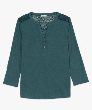 Tee-shirt femme à manches longues et dos dentelle vue4 - GEMO C4G FEMME - GEMO