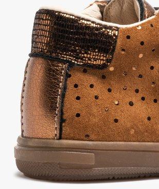 Chaussures de marche bébé dessus cuir brillant - Bopy vue6 - BOPY - Nikesneakers