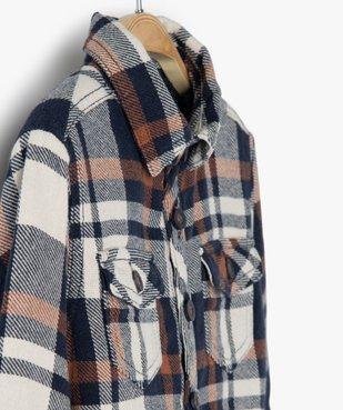Chemise bébé garçon à carreaux avec doublure sherpa vue2 - GEMO(BEBE DEBT) - GEMO