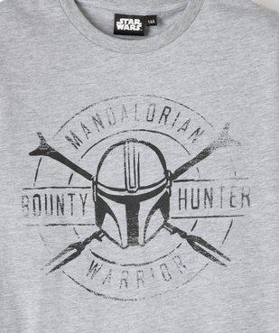 Tee-shirt garçon à manches courtes avec motif XXL – Star Wars vue2 - THE MANDALORIAN - GEMO