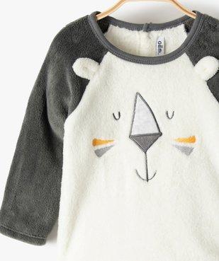 Pyjama bébé en maille peluche extra douce motif lion vue2 - GEMO(BB COUCHE) - GEMO