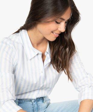 Chemise femme coupe cintrée en coton stretch vue5 - GEMO(FEMME PAP) - GEMO